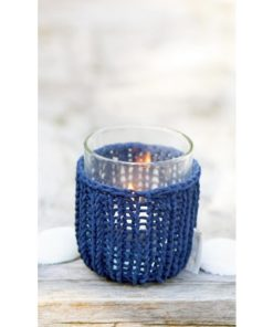 Shelter Summer Knit Votive, Blauw of Roze, Rivièra Maison-0