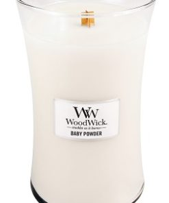 WoodWick Large Candle - Baby Powder-0
