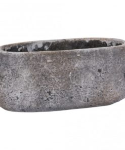 Vision Grey Cement Pot Ovale Low S, PTMD-0