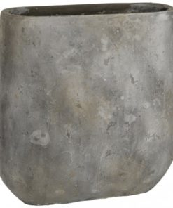 Vision grey Cement Pot oval big s, PTMD-0