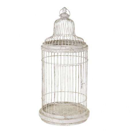 Iron Cage metal birdcage white, PTMD-0