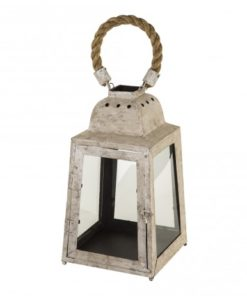Simple metal white lantern, PTMD-0