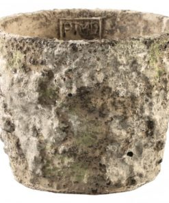 Seneca Cement grey round pot, PTMD-0