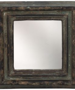 Madera brown Antique Mango wood mirror square, PTMD-0