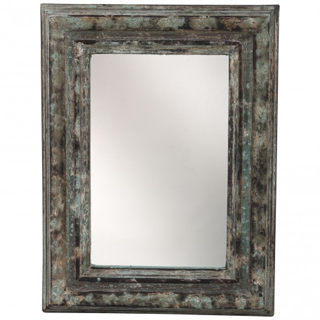 Madera brown Antique Mango wood mirror rectangle, PTMD-0