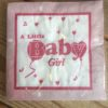 Papieren servetten - baby girl-0