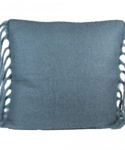 Lambswool cushion blue with fill square, PTMD-0
