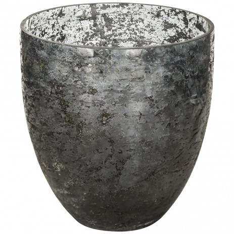 Glass classic grey Pot bombey round M, PTMD-0