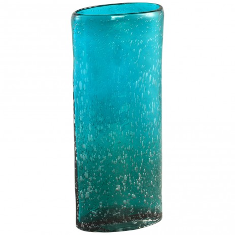 Mino blue Glass oval vase s, PTMD-0