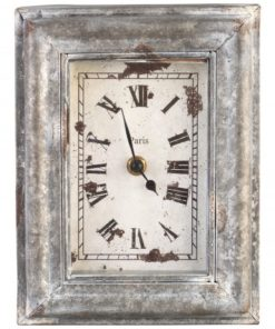 Bond Iron rectangle grey wall clock paris, PTMD-0