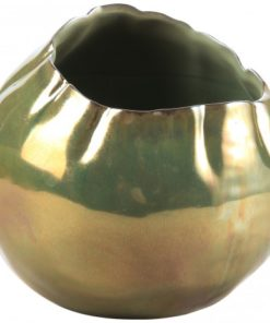 Pearl green ceramic round Pot, PTMD-0