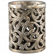 Zahia Gold Cement Lantern , PTMD-4338