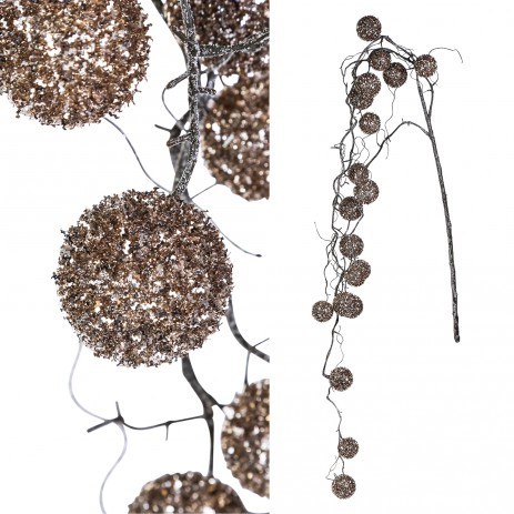 Twig plant hanging cotton balls, PTMD-0