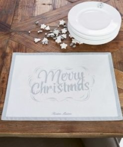 Merry Christmas Placemat silver, Riviera Maison-0