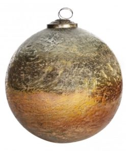 Xmas Blitzen orange Glass ball - PTMD-4527