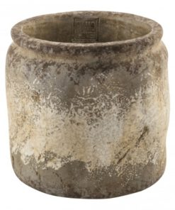Cement osaka brown round pot , PTMD-4601