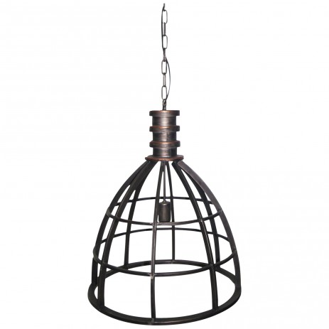 Denver grey Iron lamp open design v - PTMD-0
