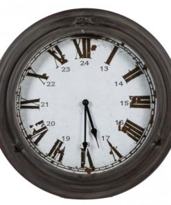 Metro Iron clock round Rustic simple, PTMD-0