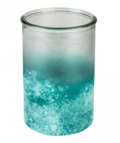 Malin turquoise Glass pot round, PTMD-0