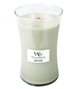 WoodWick Large Candle - Wood Smoke-0