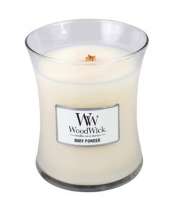 WoodWick Medium Candle - Baby Powder-0