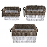 Reed Basket Square Set of 3, Long Island Living-0