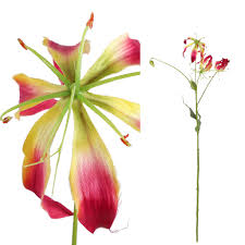 Lily bloem red Gloriosa bunch 3 flowers, PTMD-0
