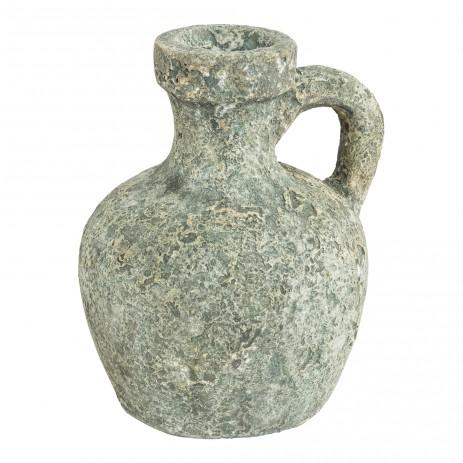 Dash green ceramic jar 1 ear, in maat L en S, PTMD-0