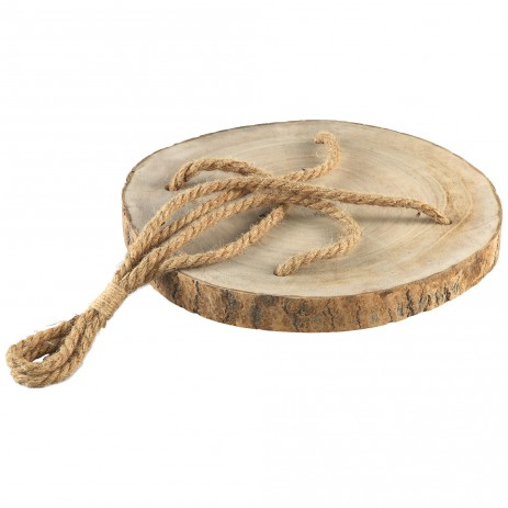 Simple wood natural tray hanging rope S, PTMD-0