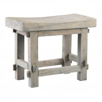 Log Wood Rectangle Natural Stool, PTMD-0