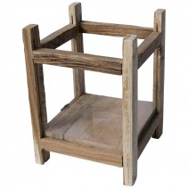 Teak natural Rustic wooden stormlight square S, PTMD-0