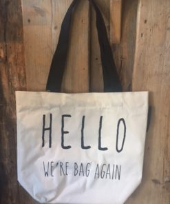 Fabric Hello Bag, Long Island Living-0