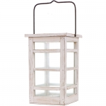 Wood Lantern White, Long Island Living-0