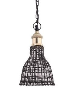 Hanglamp Arc Steel rond gewoven brons staaldraad, PTMD-0