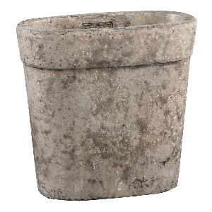 Stony brown Cement pot ovale in maat S en M, PTMD-0