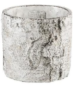 birch white Cement pot round s, PTMD-0