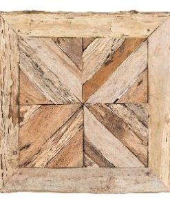 TeakMosaic natural wooden wallpanel square s, PTMD-0