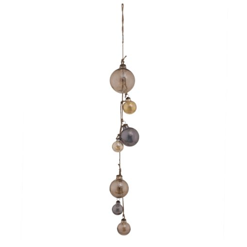 Christmas Norris brown string with Glass balls, PTMD-0