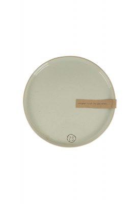 Bord aardewerk in grijs of wit, Zusss-0