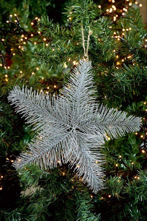 Aspen Snowstar Ornament silver M & L - Riviera Maison-5873