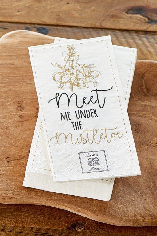 Paper Napkin Meet Me Under The Mistletoe, Rivièra Maison-0