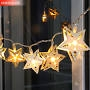 Wood Garland Star with LED - Long Island Living-0