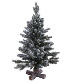 Pine Tree with Snow 60 cm en 90 cm - Long Island Living-0
