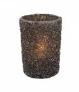 Glass Tlight Glitter BK -Long Island Living-0