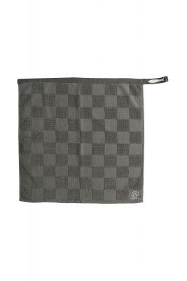 Handdoek Geblokt, Antracietgrijs/Krijt, zusss-0