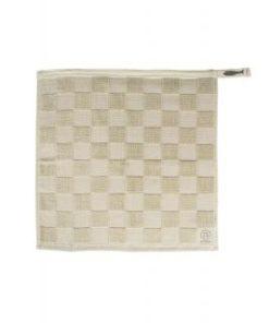 Handdoek Geblokt, Antracietgrijs/Krijt, zusss-5838