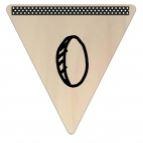 Vlaggetje Hout - diverse letters/cijfers/tekens-6063