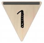 Vlaggetje Hout - diverse letters/cijfers/tekens-6064