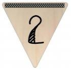 Vlaggetje Hout - diverse letters/cijfers/tekens-6065
