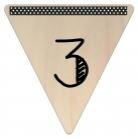 Vlaggetje Hout - diverse letters/cijfers/tekens-6066